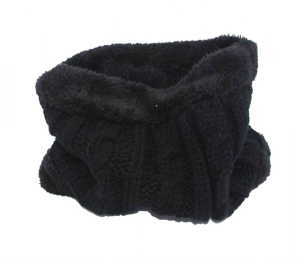 Black Fur inside Neck warmer NW582877